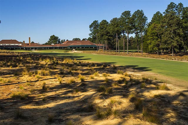 Hole No. 18 with the native areas in place of the rough. (Pinehurst, LLC)