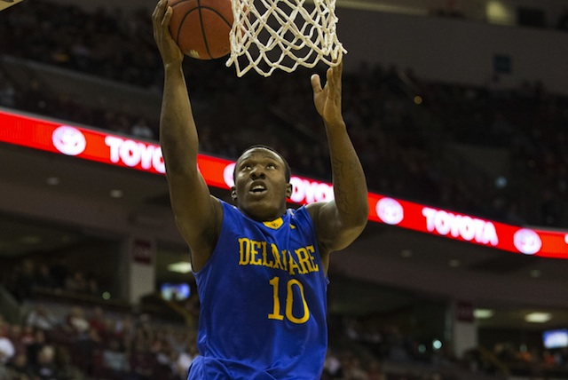 Senior guard Devon Saddler leads the top-seeded Blue Hens, and the league, in scoring.  (USATSI)