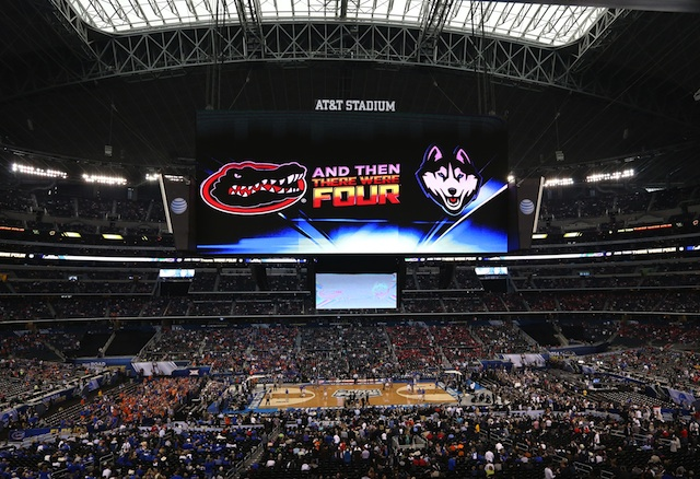 Double jumbotrons for the Final Four.  (USATSI)