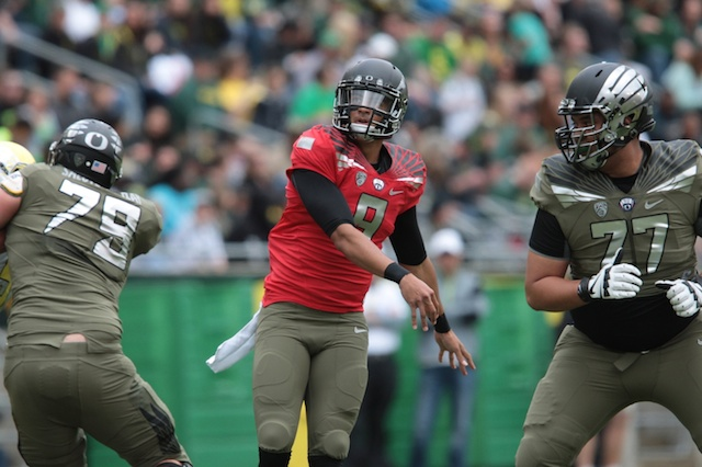 Marcus Mariota will face Michigan State's defense on Sept. 6. (USATSI)