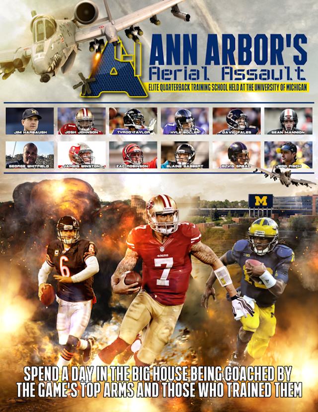 Michigan's A4 quarterback camp poster. (Michigan Football)