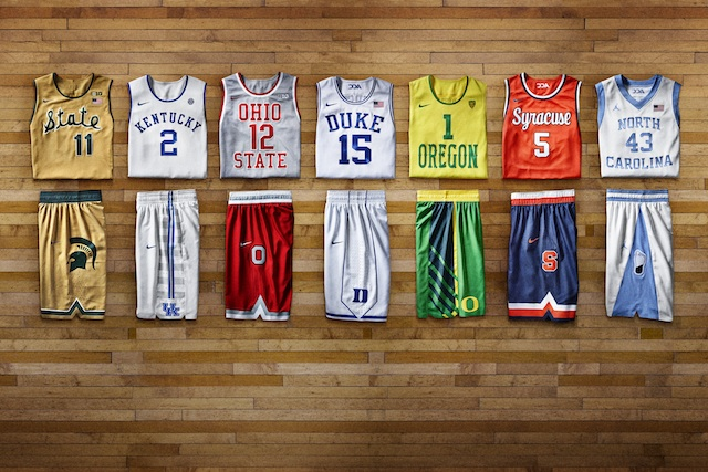 Nike revealed photos of the Hyper Elite Dominance throwback uniforms.  (Nike)