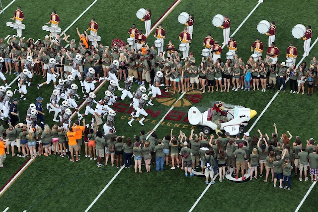 ULM held a Camo-Out for its season opener against Wake Forest. (USATSI)