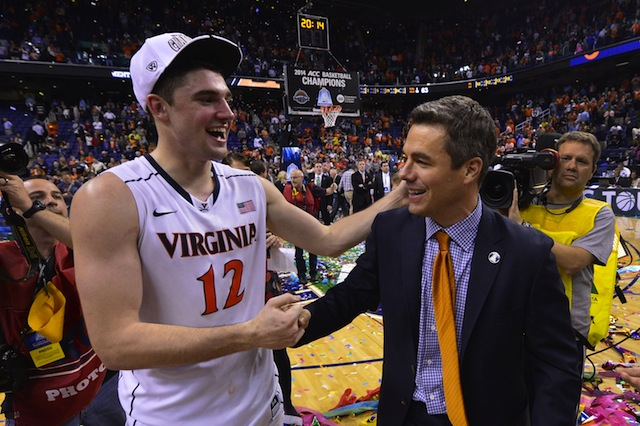 Senior Joe Harris was named tournament MVP after Virginia's win over Duke in the championship game.  (USATSI)