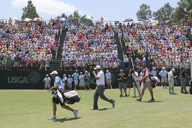 Every grandstand was packed for Phil Mickelson on Saturday at the US Open. (USATSI)