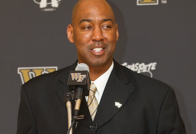 Danny Manning won national titles as a player and assistant coach at Kansas. (Wake Forest/Brian Westerholt)
