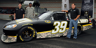 Ryan Newman's Army car side view