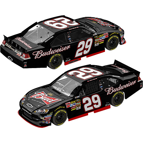 Black Budweiser car for Harvick CBSSports com