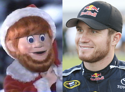 Brian Vickers is Santa Claus!!!