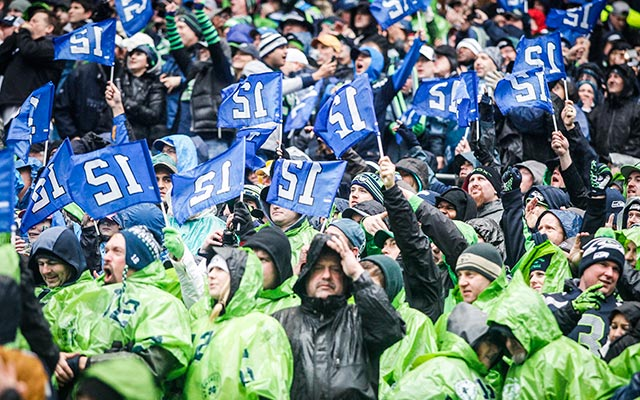 The weather was an issue for most of the afternoon in Seattle. (USATSI)