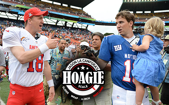 Oh, brother: It's Peyton vs. Eli in one of Week 2's most interesting games. (USATSI)