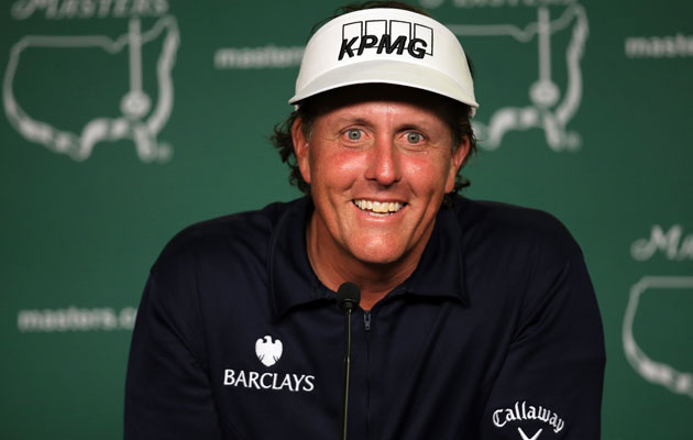 Phil Mickelson describes the Callaway Phrankenwood he'll use at the 2013 Masters. (USATSI)