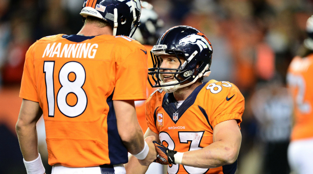 Peyton and Welker are BFFs.