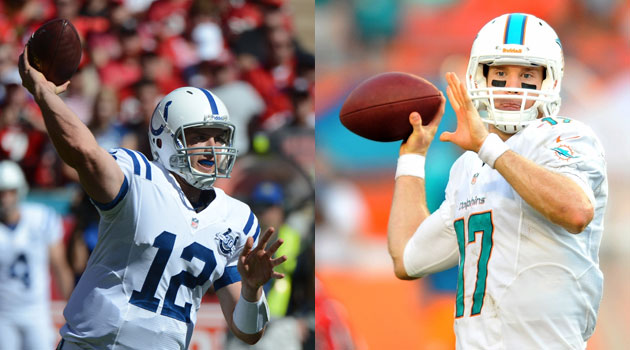 Andrew Luck and Ryan Tannehill are a big reason the AFC's better than the NFC right now.