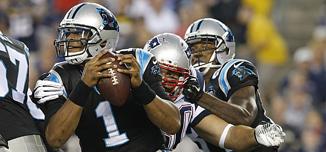 A lack of protection for Newton could be the downfall of the Panthers. (USATSI)