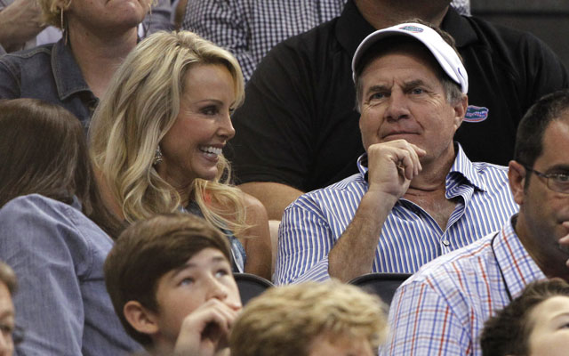 Bill Belichick was at Florida-Pittsburgh with his girlfriend on Saturday.