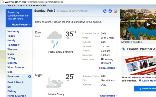 2014 Super Bowl Weather Forecast 25 Degrees No Snow For Now