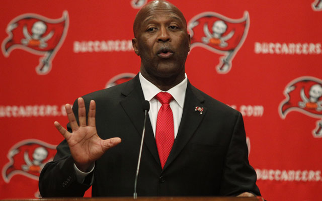 Lovie Smith doesn't want you getting your expectations up just yet.