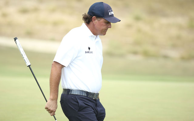 Friday's 2014 US Open round was a long one for Phil Mickelson and his putter. (USATSI)