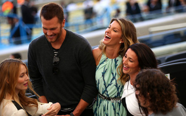 Tom Brady and Gisele are at the 2014 World Cup final.