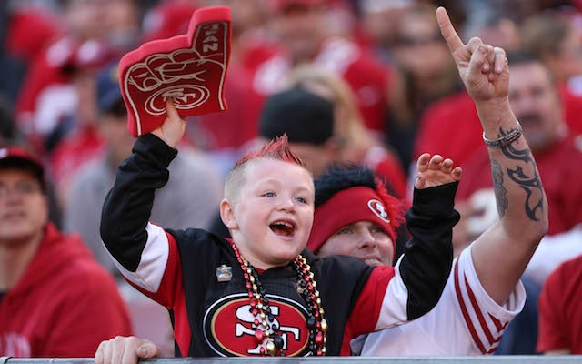 The 49ers will need all of their fans -- even the baby ones -- to make noise on Sunday. (USATSI)