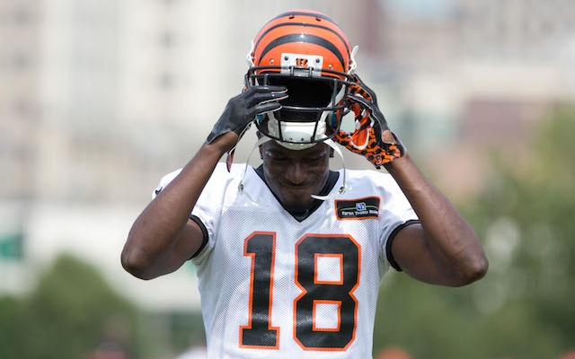 Do not touch A.J. Green during practice. (USATSI)
