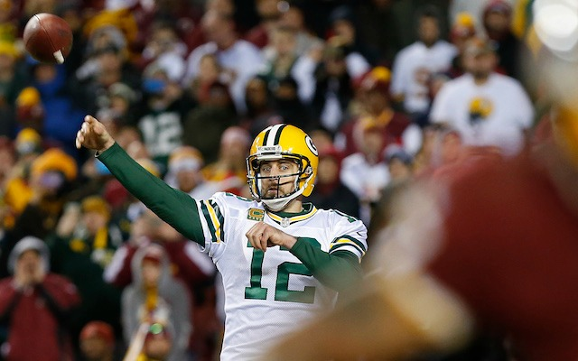 Aaron Rodgers was on fire for three quarters against Washington. (USATSI)