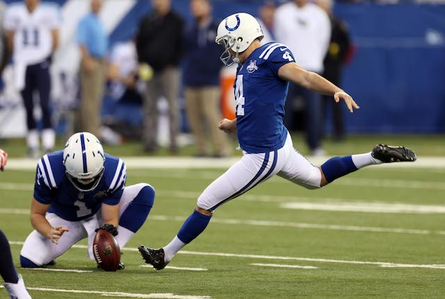 Adam Vinatieri thinks field goals made from over 50-yards should be worth four points. (USATSI)