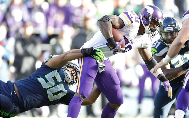 Adrian Peterson wasn't 100 percent during Sunday's game against Seattle. (USATSI)