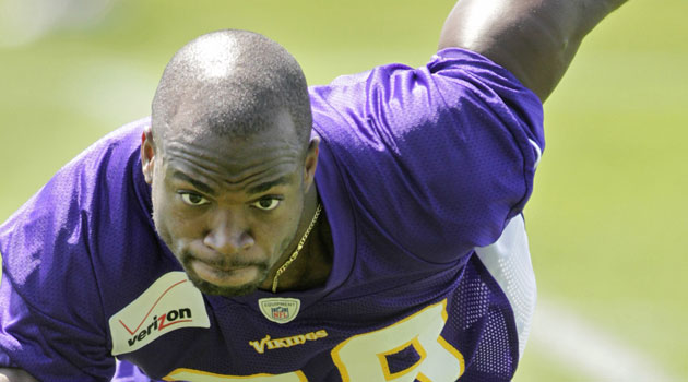 Adrian Peterson now says he'd be OK with a gay teammate. (USATSI)