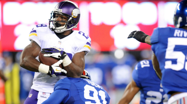 Adrian Peterson believes the Vikings are 'out of whack' right now.