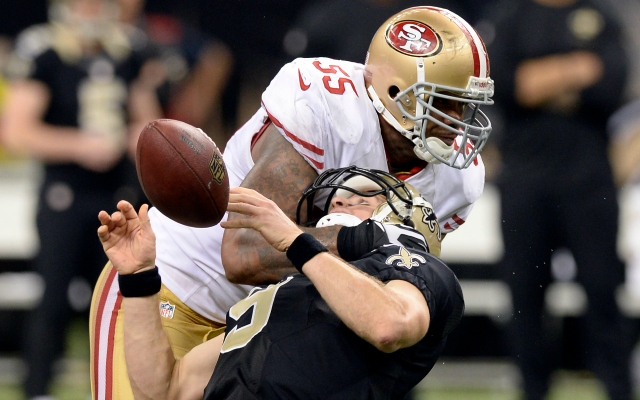 Ahmad Brooks was fined $16K for his hit on Drew Brees.