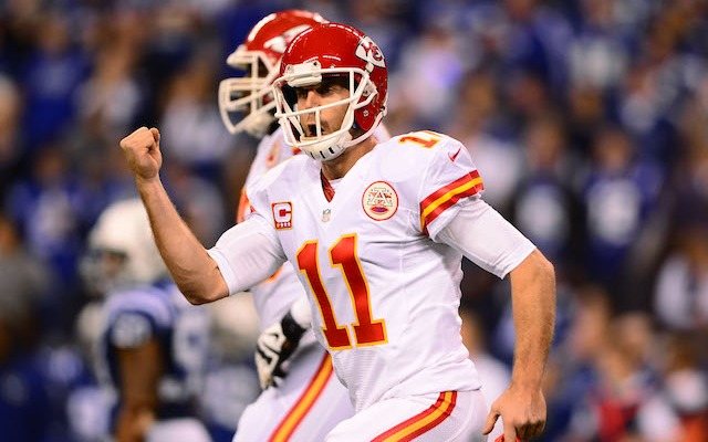 Even Alex Smith was excited about his first season in Kansas City. (USATSI)