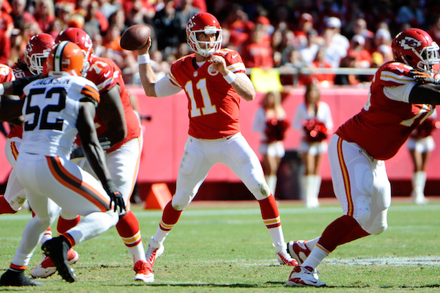 Alex Smith and the Chiefs are headed for Sunday Night Football. (USATSI)