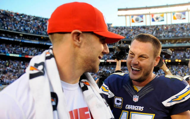 'I didn't realize me winning the comeback player award over you was so funny Philip.' (USATSI)
