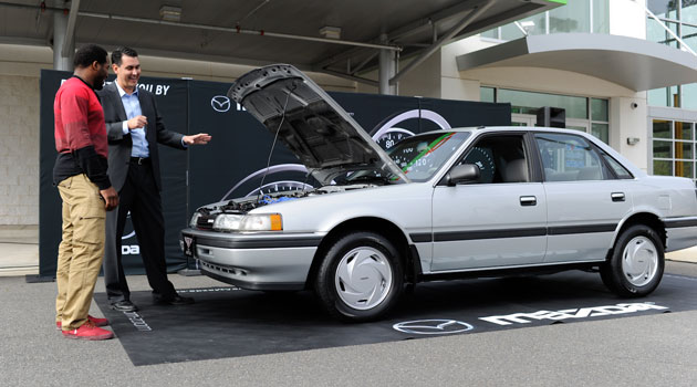 Alfred Morris got his 1991 Mazda 'Bentley' back Tuesday.