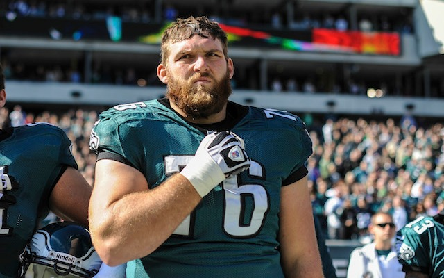 Allen Barbre has signed up for three more years in Philadelphia. (USATSI)