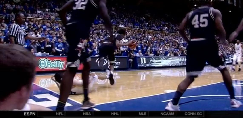 Grayson Allen tripped an opposing player on Monday night. (USATSI)