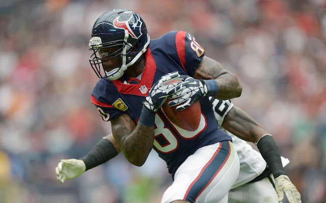 Andre Johnson has some draft advice for his team. (USATSI)
