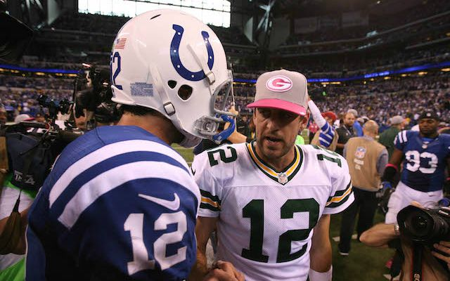 Could Andrew Luck vs. Aaron Rodgers happen in February? (USATSI)