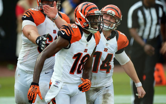 A.J. Green only wants to be catching passes from Andy Dalton. (USATSI)