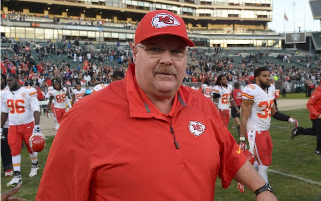 There was a smile on Andy Reid's face for most of 2013. (USATSI)
