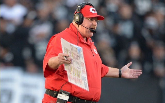 Andy Reid might give his starters some extra rest in Week 17. (USATSI)