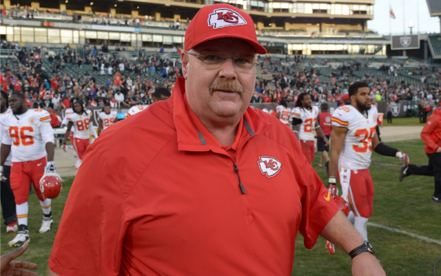 Andy Reid is resting his starters on Sunday. All of them.