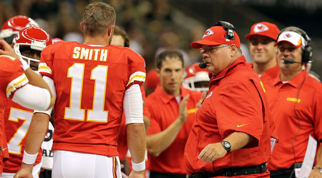Andy Reid says he's been trying to trade for Alex Smith for years.
