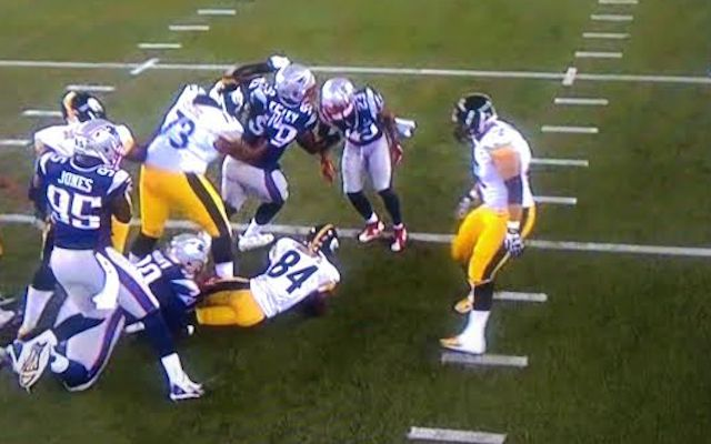 WATCH: Antonio Brown is somehow the first player to be sacked in 2015