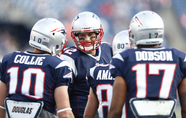 Tom Brady won't have Austin Collie to talk to in the huddle anymore. (USATSI)