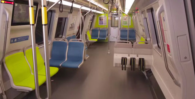 49ers fans will be greeted by these colors on the new BART train cars in San Francisco. (BART.gov)