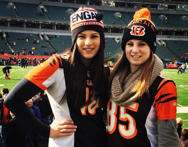 These girls probably weren't even alive for the last Bengals playoff win. (Instagram/DaniRose013)