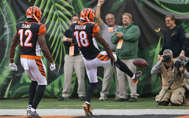 A.J. Green was one of seven players from the Bengals-Steelers game who got fined. (USATSI)